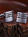 Personlig gåva-Silver-Rostfritt stål-Manschettknappar- tillUnisex
