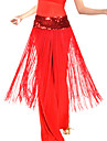 Cinturon(Negro / Morado / Rojo,Poliester,Danza del Vientre / Sala de Baile) -Danza del Vientre / Sala de Baile- paraMujer Borla(s)