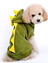 Dog Costumes/Dog Coats-XS/S/M/L/XL-Winter-Green-Hooded/Cosplay/Dinosaur shaped