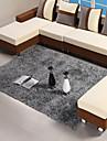 140 * 200cm gris tapis contemporain