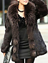 Long Sleeve Shawl Rabbit Fur Party/Casual Coat(More Colors)