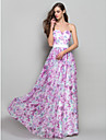 Formal Evening / Prom / Military Ball Dress - Print Plus Sizes / Petite A-line / Princess Strapless / Sweetheart Floor-length Chiffon