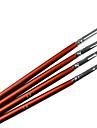 4ST Brown Handle Akryl Nail Art Pen Brush