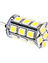 5W G4 LED-lampa T 24 SMD 5050 370 lm Kallvit DC 12 V