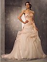 Lanting Bride A-line / Princess Petite / Plus Sizes Wedding Dress-Court Train Sweetheart Organza