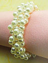 Pearl Bröllop Servett Ring Set Of 12, Pearl Dia 4,5 cm