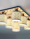 Flush Mount, 6 ljus, modern Hollow Metall Glas Målning