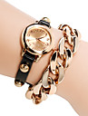 Women\'s Watch Golden Plated Chain Bracelet