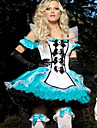 Deluxe Alice and Bunny White and Blue Satin Dress Women\'s Costume