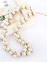 Elegant Fashion Crystal & Pearl Necklace