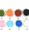 1PCS Laser Glitter Akryl Pulver för 3D Nail Art (Assorted Color, No.1-8)