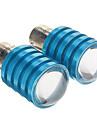 1156 BA15s 10w 800lm 6000-6500K lumiere blanche froide Ampoule LED pour la voiture (dc 12-16v, 2pcs)