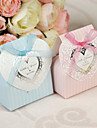 12 Piece/Set Favor Holder - Cuboid Card Paper/Pearl Paper Favor Boxes Non-personalised