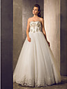 A-line Wedding Dress - Ivory Floor-length Sweetheart Tulle
