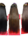25 Inch Clip in Synthetic Straight Hair Extensions with 5 Clips(Assorted 3 Colors)