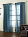 anti ™ linne fast blått ren gardin (två paneler)