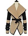 Abrigo para Mujer con Cuello Alto y Cinturon