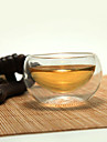 élégantes tasses de thé double-couche, 100ml de verre