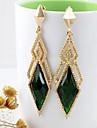 Kayshine Green Diamond Lattice Shape Örhängen