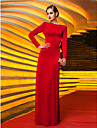 TS Couture Military Ball / Formal Evening Dress - Ruby Plus Sizes / Petite Sheath/Column Jewel Floor-length Jersey