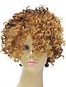 Capless Syntetisk Kort Mixed Color Liten lockigt hår peruk för Black Women frisyr