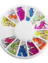 Mixed Candy Color Fluorescent Mixed-mönster Nail Art Dekorationer