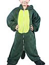 Kigurumi Pyjamas Dinosaurie Trikå/Onesie Festival/högtid Pyjamas med djur halloween Grön Lappverk Flanell Kigurumi För Barn Halloween