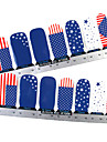 28PCS plein pointe Flag Nail Art Stickers muraux