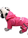 Dog Rain Coat Red / Pink / Yellow Spring/Fall Letter & Number / Police/Military