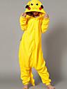 Kigurumi Pijamale Pika Pika Leotard/Onesie Festival/Sărbătoare Sleepwear Pentru Animale Halloween Galben Peteci Lână polară Kigurumi