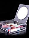 acrylique transparent boite de rangement des cosmetiques carre de 1x2 avec miroir organisateur cosmetique