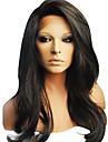 16inch 100% de cheveux humains de 130% Densite 4x4 Top en soie sans colle a vagues Full Lace Wigs
