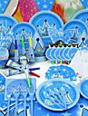 Petrecerea Baby Shower / Gril pe Kamado  Partid Tacamuri-84Piesă/Set Coarne / Pălării/Căciuli / Set de Masă  Hârtie de Înaltă calitate