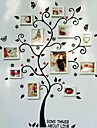 Tree Wall Stickers White Picture Frames, Set of 8