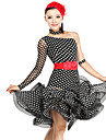 Dancewear Women\'s Polka Dots Viscose Tulle Latin Dance Dress