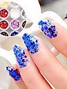 1st Hexagonal Glitter Tabletter nagel konst Dekorationer NO.19-24 (blandade färger)