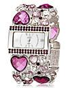 pentru Doamne Ceas La Modă Ceas Brățară Japoneză Quartz imitație de diamant Bandă Sclipici Heart Shape Boem Elegant Verde Auriu VioletMov