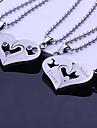 Personlig gåva-Guld Silver Blå Svart-Rostfritt stål-Dekorativa Halsband- tillUnisex