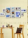 Vit Foto Wall Frame Collection Set med 12