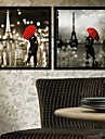 Forcet Paris Architettura tela con cornice Set di 2
