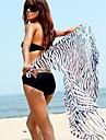 Women\'s Sexy Wild Zebra Beach Towel Yarn Batches