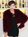 Gorgeous Long Sleeve Collarless Ostrich Fur Casual/Party Jacket