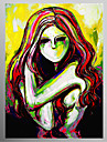 Hand Painted Oil Painting People Picasso Style Naked Lady with Stretched Frame Ready to Hang