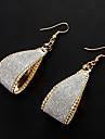 europaeischen Stil bogenfoermige Tropfen Legierung Ohrringe (Gold, Silber) (1 Paar)