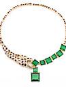 Frauen der europaeischen und amerikanischen Retro Stilvolle Leopard Halskette