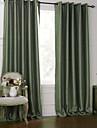 modern två paneler blom- botaniska grön vardagsrum polyester mörkläggningsgardiner gardiner