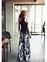 Pantaloni Da donna A zampa Cotone / Altro Media elasticita