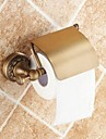 "Toilet Paper Holder Antique Brass Wall Mounted 140 x 134 x 66mm (5.51 x5.27 x 2.59"") Brass Traditional"