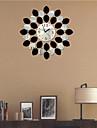 "17.75""H Modern Style Flower PS Mirror Wall Clock"