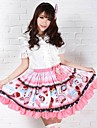 Pink Pretty Lolita Jordgubbar Glass Princess Kawaii Skirt Lovely Cosplay
